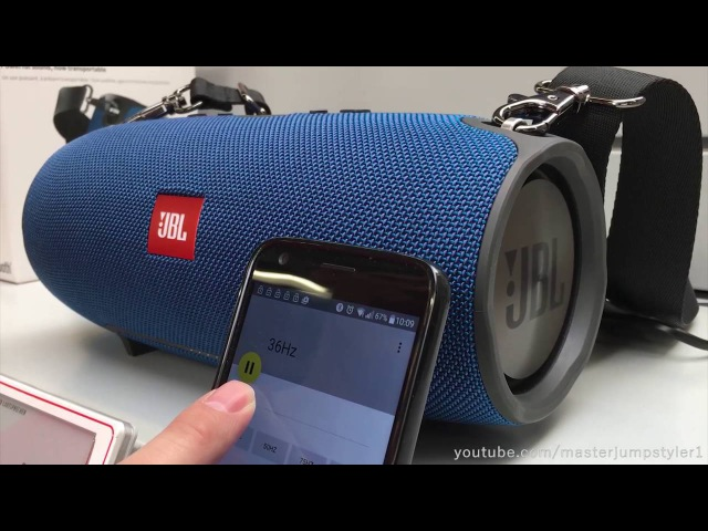 JBL XTREME BLUE Frequency - Test [BASS-SECTOR]