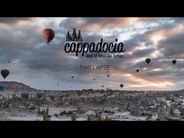 Cappadocia Timelapse   Land of beautiful horses   TURKEY
