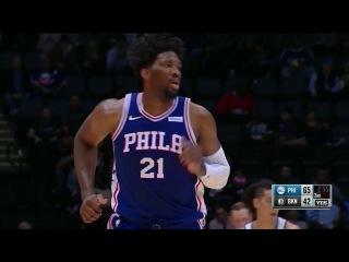 Joel Embiid Erupts In His Philadelphia 76er's Preseason Debut | October 11th, 2017 #NBANews #NBA #76ers