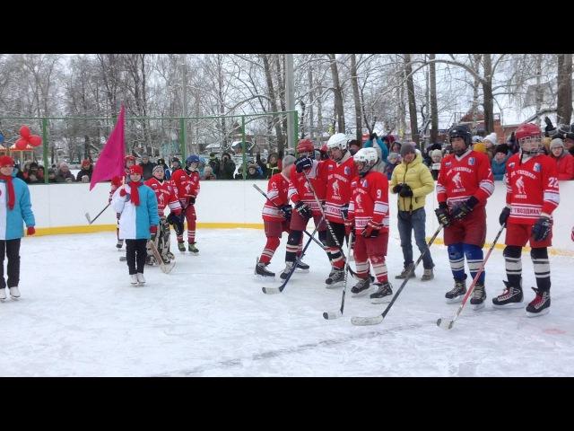 Ижевск. Открытие хоккейной коробки МБОУ СОШ № 12