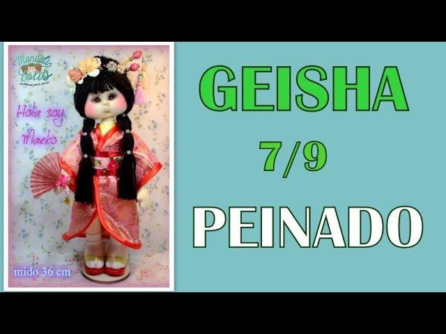 Muñeca geisha Maeko peinado 7 9 video 306
