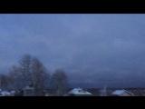 Множество оттенков Рождественского неба, от нежно голубого к чермному.