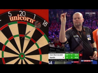 Raymond van Barneveld vs Richard North (PDC World Darts Championship 2018 / Round 1)