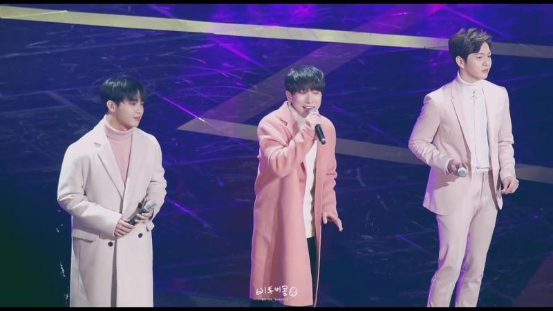 [FANCAM] 31.12.2017: Ынкван, Чансоб и Хёншик - Ambiguous @ 2017 KBS Drama Awards
