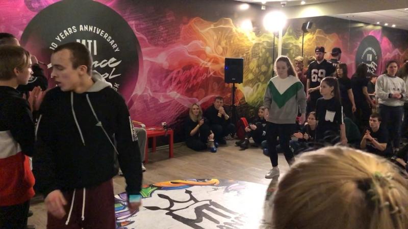 MTI Battle 2018/Hip-Hop PRO 2x2 Андрей и Макс vs Аня и Кира