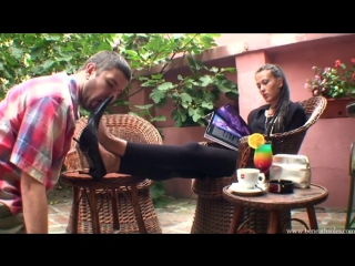 Foot worship slave cleaning shoe #femdom #fetish #feet #mistress