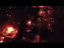 В Москве  на рынке «Синдика» бушует пожар.