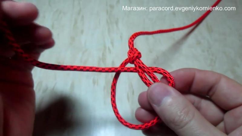Как вязать Беседочный Узел (Булинь) - How to tie Bowline Knot