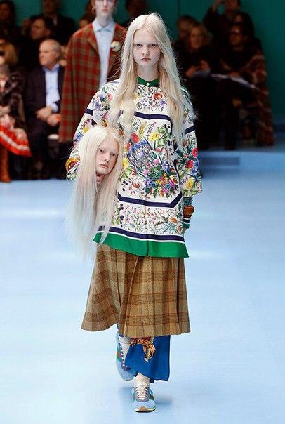 В рамках Недели моды в Милане состоялся показ Gucci - смелый, яркий и пугающий.