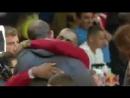 Встреча Тимофея Мозгова с Леброном Джеймсом перед матчем Brooklyn Nets vs Cleveland Cavaliers 112:107
