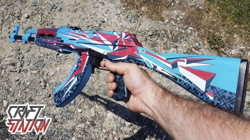 [DreadCraftStation] Как сделать АК-47 Буйство Красок CS:GO DIY AK-47 | Point Disarray