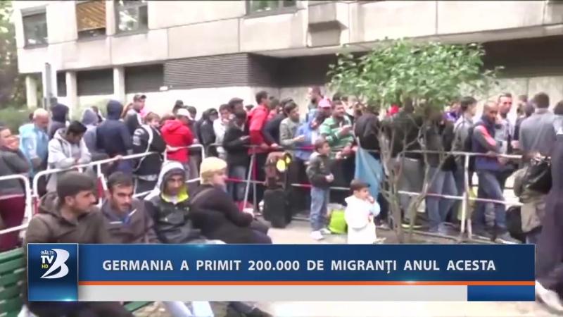 GERMANIA A PRIMIT 200.000 DE MIGRANȚI ANUL ACESTA