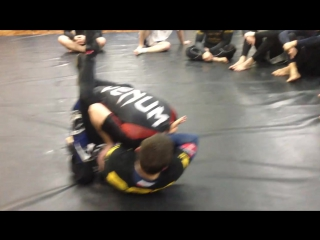 Ninja choke - удушение из гарда нинзя чоук