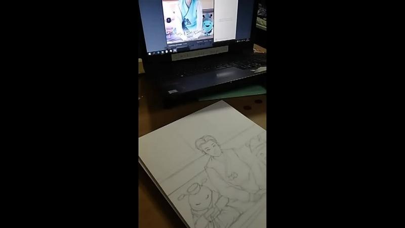 Рисую Пак Хён Сика