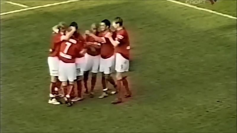 2005 Гол Романа Павлюченко в ворота владикавказской Алании 1 2