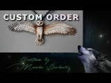 Custom order owl necklace mini tutorial barn owl