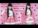 Kawaii DIY-How to Sew A Fancy Lolita Kimono/Yukata Part 2 Skirt and Belt for Special Occasions
