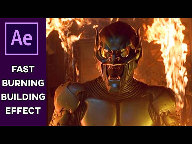 EASY BURNING ROOM / BUILDING Effect FAST | After Effects Tutorial