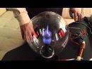 Визуализация процесса сбора электрических зарядов из окружающей среды