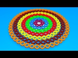 Toddlers learn colors. Learning videos for kids with 3D сolor Сircle Car Tires.