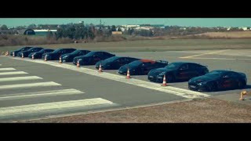 AUDI RS6 vs GTR vs ASTON MARTIN vs HURACAN and PORSCHE TURBO 911 S DRAG RACE