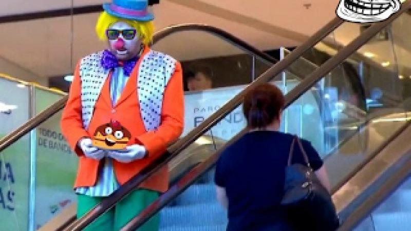 Забавный розыгрыш с клоуном в Бразилии Пранк