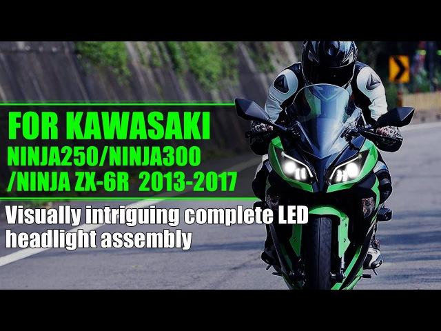 KT Revolutionary Complete LED Headlight for Kawasaki ZX-6R / Ninja 300 / Ninja 250 2013-2017