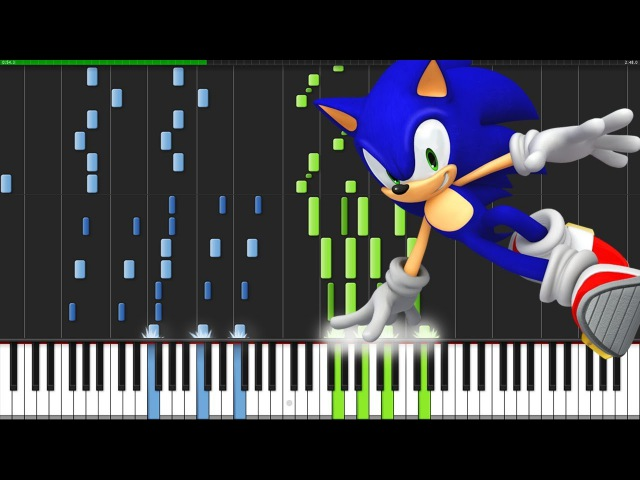 Studiopolis Zone Act 1 - Sonic Mania [Piano Tutorial] (Synthesia) AqareCover