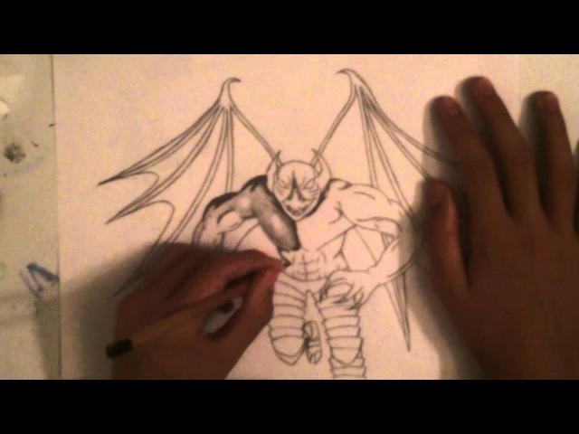 Drawing Night Stalker Dota 2