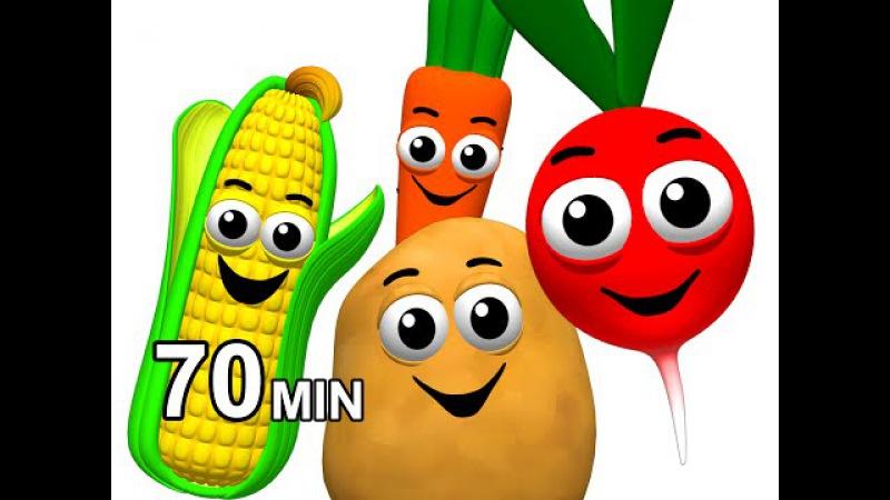 Veggie Songs Fruit Rhymes | Learn Names of Vegetables | Kids Nursery School ESL | Busy Beavers
