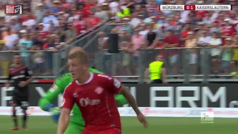 Вюрцбургер Кикерс vs Кайзерслаутерн 2 тур 14.08.2016 raport 720p