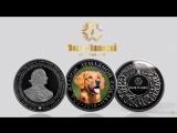 Серебряная сувенирная монета С Новым годом!