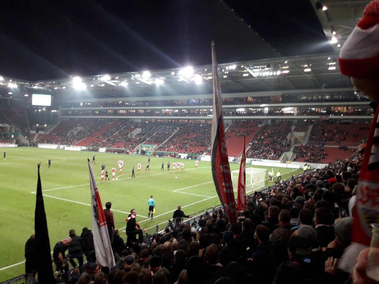 Опель Арена на кубковом матче Майнц - Штутгарт