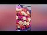 Сборный букет - MIX (одноголовых российских и кустовых импортных роз)