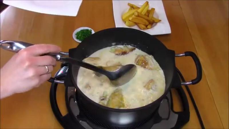 курица в сметанно-чесночном соусе