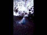 Горный Родник АГИДЕЛЬ Зима 2017 село Лаклы , Бакортостан. Реликтовая кристально чистая Живая  вода.
