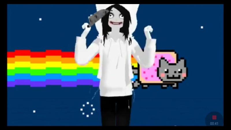 Jeff the Killer – Nyan cat
