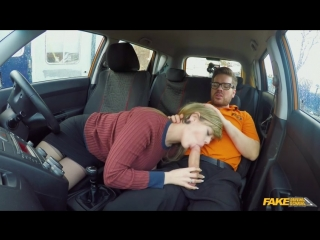Fakedrivingschool madison stuart 34f boobs bouncing in driving lesson new porn 2018