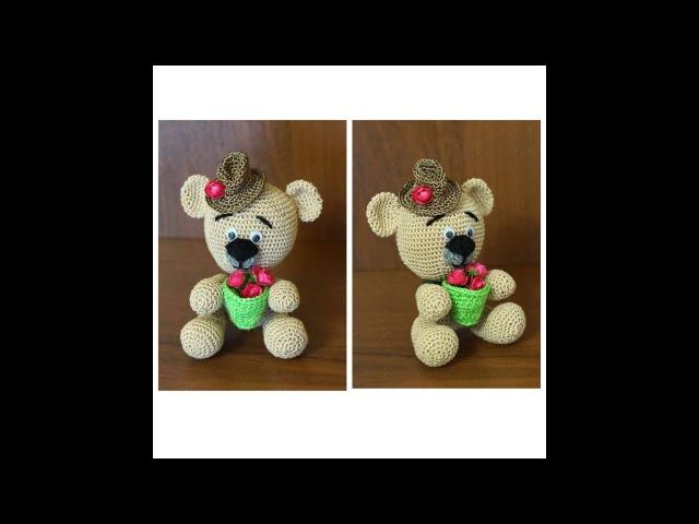 Как связать мишку Медведь крючком Мишка крючком Вязание амигуруми Ч 2 teddy bear P 2