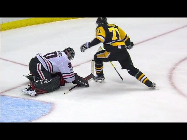 Malkin given penalty after skating into Crawford's head