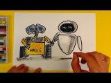 Знакомство Валл-И и Евы из мультика Валл-И  Wall-E  урок рисования для детей