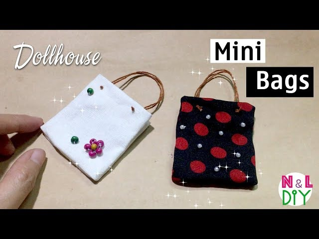 DIY Miniature Bags for Dollhouse | How to Make Mini Bag for Doll