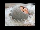 Бесшовная шапочка для новорожденного СНЕЖАНА анатомический чепчик 1 часть