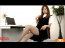 Sexy asian secretary in mini skirt and pantyhose 11