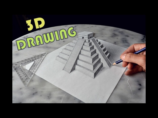 CHICHEN ITZA MEXICO 3D Speed Drawing