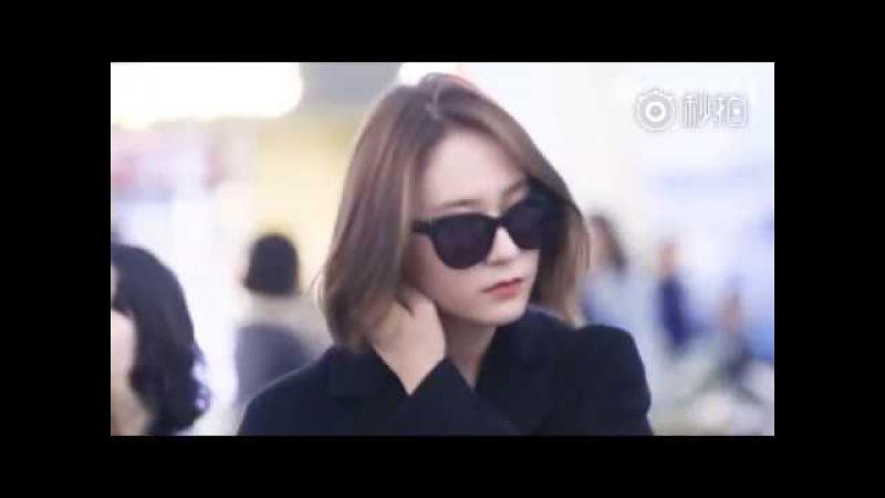 171019 Krystal @ Incheon Airport off to Hongkong