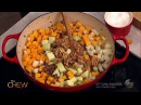 Krysten Ritter Michael Symon Make a Warm Wild Rice and Squash Salad | The Chew