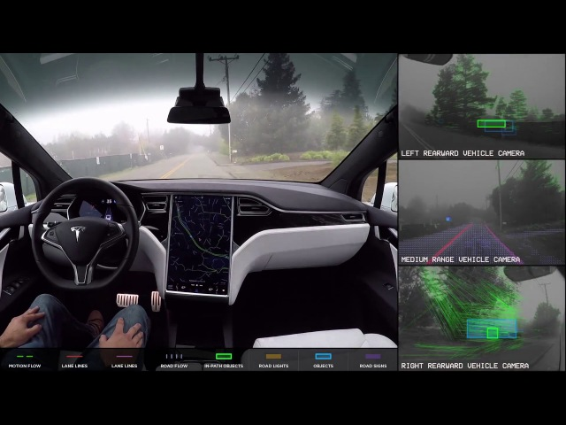 Tesla Autopilot 2.0 Full Self Driving Hardware - Neighborhood Long