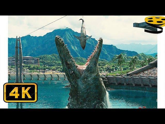 Сцена с Мозазавром   Мир Юрского периода   4K ULTRA HD