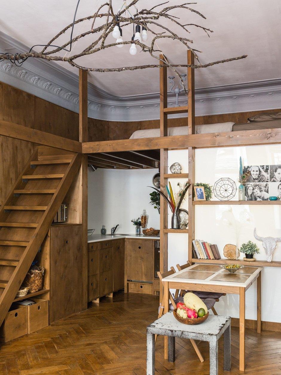 Квартира-студия 33 м со вторым ярусом в Санкт-Петербурге.